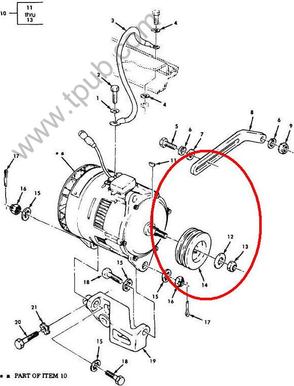 2920 00 909 2483 Generator Engine Accessory